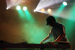 DJ on the stage Royalty Free Stock Photo