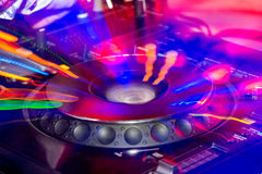 DJ stand Royalty Free Stock Photography
