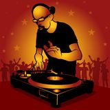 DJ star royalty free illustration