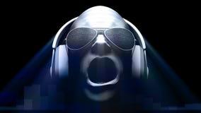 DJ-Static + -kopfhörer stock abbildung