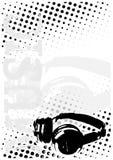 DJ stippelt afficheachtergrond stock illustratie