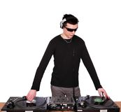 Dj with sunglasses Royalty Free Stock Images