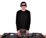 Dj with sunglasses Royalty Free Stock Image