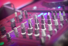DJ Table detail Stock Image