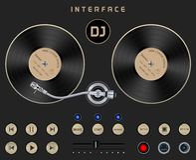 DJ Template Turntable Stock Photos