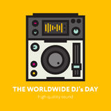 The DJ Themed Icon. Royalty Free Stock Images