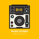 The DJ Themed Icon. Royalty Free Stock Photography