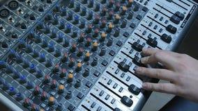 DJ-Ton-Konsolen-Mischer stock footage