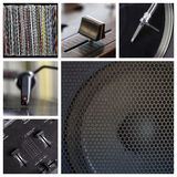 Dj tools collage Stock Photos
