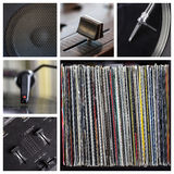 Dj tools collage Royalty Free Stock Image