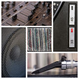 Dj tools collage Stock Photography