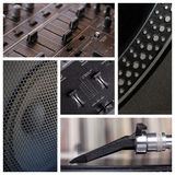 Dj tools collage Stock Images