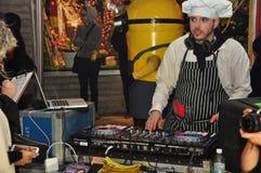 DJ at 2015 Toronto Zombie walk and Halloween parade. The DJ at the 2015 Toronto Zombie walk and Halloween parade in Toronto, Ontario, Canada royalty free stock image