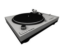 Dj Turntable 01. 3D render of a Dj Turntable. Very high definition Royalty Free Stock Images