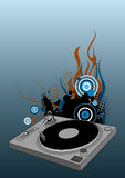 DJ turntable Stock Images