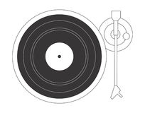 DJ turntable. Vector illustration of a good old vinyl player stock illustration