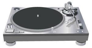 DJ turntable. Vector illustration in AI-EPS8 format Stock Images