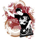 DJ at the turntable Royalty Free Stock Photo