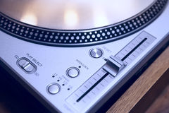 DJ turntable close-up Royalty Free Stock Photos