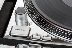 DJ turntable controls Royalty Free Stock Image