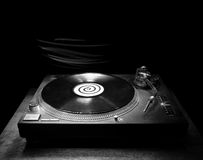 DJ Turntable in the Dark Royalty Free Stock Images
