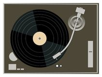 DJ Turntable Graphics Stock Photography