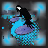 dj turntable muzyczny plakatowy Zdjęcia Royalty Free