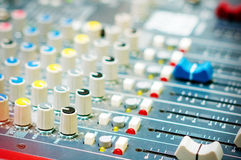 DJ turntable sound mixer in nightclub Royalty Free Stock Photography