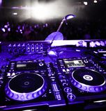 Dj-turntables Royaltyfria Bilder