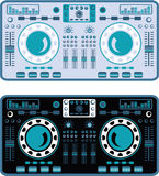 DJ Turntables Vector. DJ Turntables electronics eps file Stock Photography