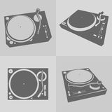 DJ turntables vector Stock Photography