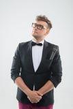 DJ in tuxedo posing Stock Photos