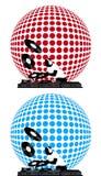DJ-und Disco-Kugel Stockfotos