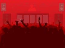 DJ und Leute stock abbildung