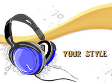 Dj vector background Stock Photography