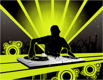 Dj vector composition Royalty Free Stock Photo
