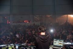 DJ-VIBE caparica primavera Brandung Fest Stockbilder