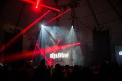 DJ VIBE- caparica primavera surf fest. Costa da Caparica, Portugal - March 28, 2015: Dj Vibe at Caparica Primavera Surf Fest on March 28, 2015 Royalty Free Stock Images