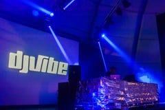 DJ VIBE- caparica primavera surf fest. Costa da Caparica, Portugal - March 28, 2015: Vibe at Caparica Spring Surf Fest on March 28, 2015 Royalty Free Stock Photography