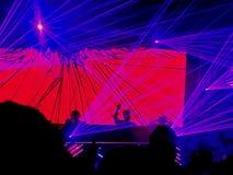 DJ& x27; vida de s, estamos en la muchedumbre fotos de archivo
