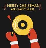 DJ Weihnachtsmann Stockfotos