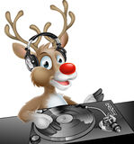 DJ-Weihnachtsren Lizenzfreies Stockbild