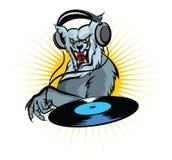 dj-werewolf vektor illustrationer