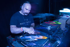 DJ Wes Baggaley playing at Glastonbury Festival 2017 stock photos