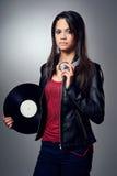 DJ woman Royalty Free Stock Photos