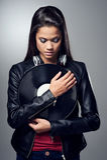 DJ woman Stock Image