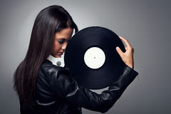 DJ woman Royalty Free Stock Images