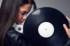 DJ woman Stock Images