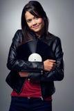 DJ woman Royalty Free Stock Photo