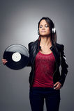 DJ woman Royalty Free Stock Image